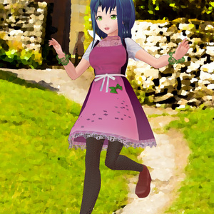 【VRoid用】カントリードレス4種類