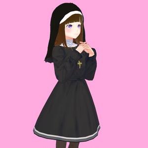 【VRoid衣装】修道服とロザリオセット