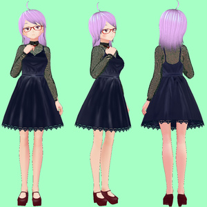 【VRoid衣装】フォーマルドレス3種類セット