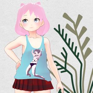 【VRoid用】プロメ亭の看板娘タルトちゃんデザインの衣装セット【無料】