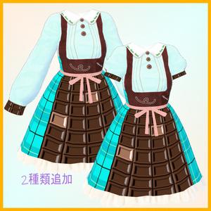 【無料版あり】お菓子なドレスセット【VRoid用】