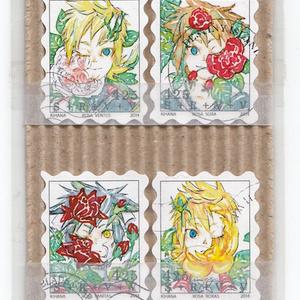 【頒布終了】薔薇の空組 疑似切手セット