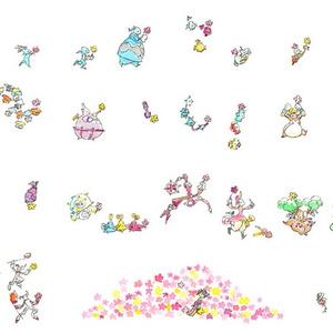 【頒布終了】豆本『お花あげるよ』
