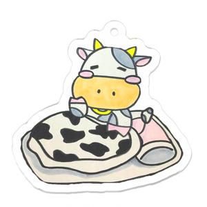 寝起きの牛