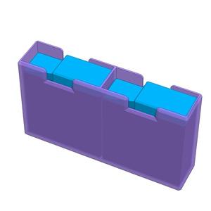 GoProバッテリー用のケース2種、3Dプリント用