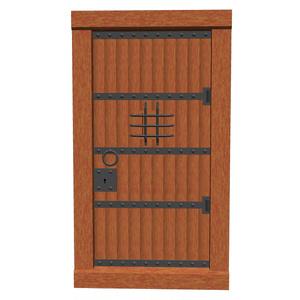 木製堅牢扉