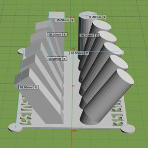 傾斜テスト(3Dプリント用)angleTest