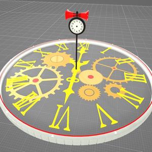 メカニカルクロックステージ(animated)