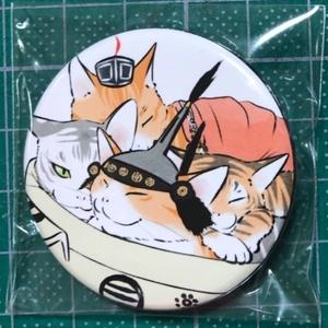武将な猫の44mm缶バッジ(きっかわなべ)