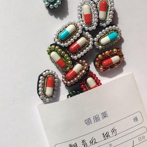 夢野幻太郎 手刺繍ブローチ
