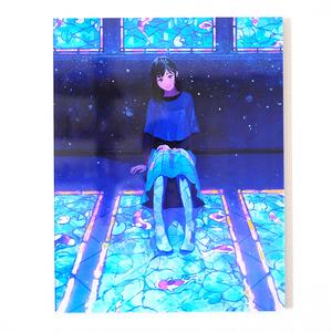 「青と泳ぐ君」アクリルフォト