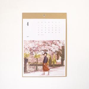 2018年4月〜2019年3月・イラストレーションカレンダー