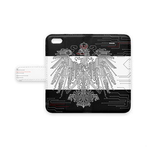 プロイセン iPhoneケース 黒×白