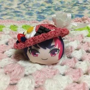 おまんじゅう帽子 アイスクリーム赤