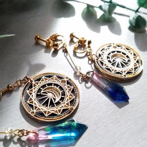 耳飾り 月明の剣