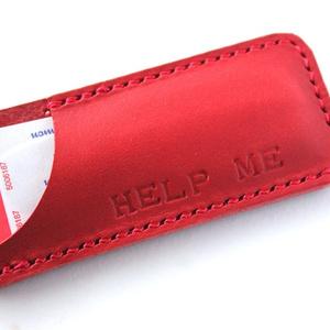 絆創膏ケース / HELP ME レッド色 ただ今在庫5個です。