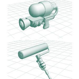 描画補助3D素材:すぷらウェポン