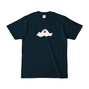 溶ける文鳥Tシャツ(ネイビー)