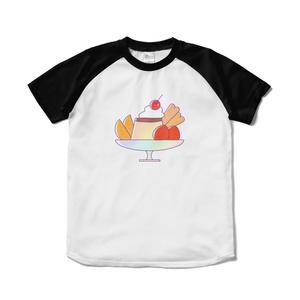 プリンアラモードラグランTシャツ