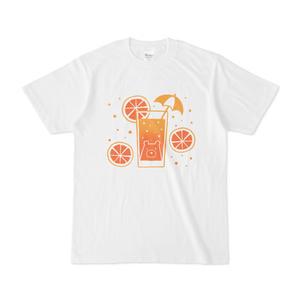 サマーオレンジしろくまTシャツ
