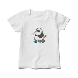 ひと息つくアオアシカツオドリレディースTシャツ