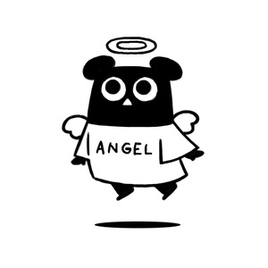 エンジェルふくまちゃんジップパーカー(黒)