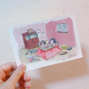 Wエースこたつポストカード
