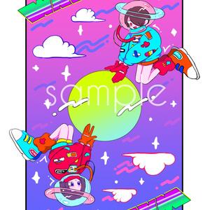 Wエース宇宙ポストカード