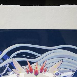 幻想界のしっぽ15周年記念絵 ジークレー複製原画 A3耳付き和紙額装セット