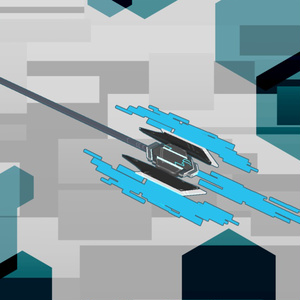 【VRChat向け】3Dモデル サイバー風ハルバードver2 N-O-S-01b NoiseHalberd
