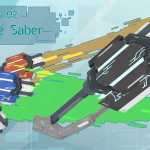 【VRChat向け】3Dモデル サイバー風セイバーver2 N-O-S-02 NoiseSaber