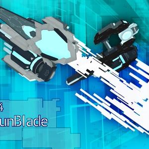 【VRChat向け】3Dモデル サイバー風ガンブレード N-O-S-04 NoiseGunBlade