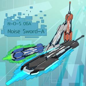 【VRChat向け】3Dモデル サイバー風ソード N-O-S-06A NoiseSwordA