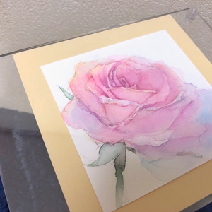 アネモネと薔薇のミニ原画