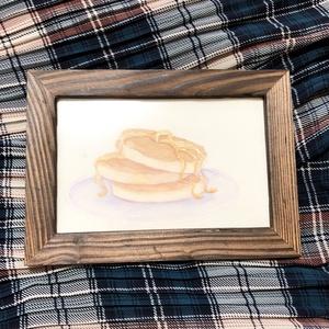 ホットケーキの水彩原画