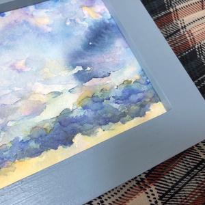空の水彩原画