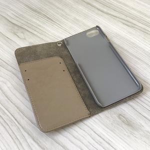 レモン柄の手帳型iphoneケース