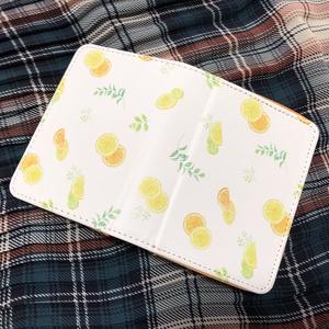 レモンとオレンジ柄の名刺ケース