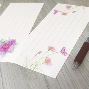 ふわり、花々の一筆箋