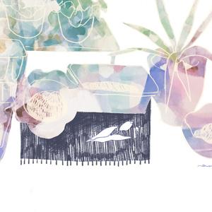 ブックカバー/冬の植木鉢
