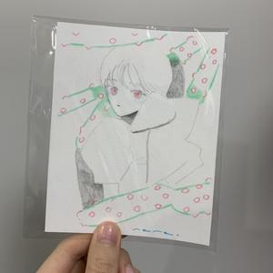 原画/パールサボテンと女の子3