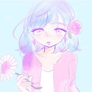 花飾りを耳にかけた女の子