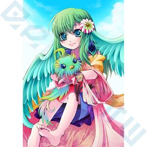 【創作ポストカード】碧い鳥