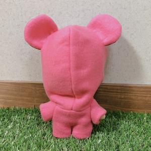 ピンクくま着ぐるみ