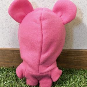 ピンク×イエロードットくま着ぐるみ