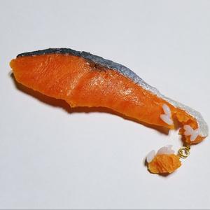 鮭のバレッタ 米粒付