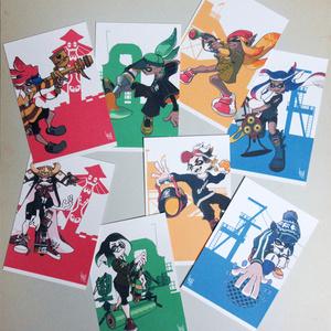 Splatoonポストカードセット(8枚)