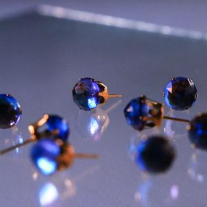 blue stud pierce