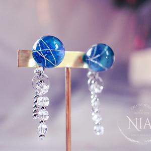 silver rain pierce/earring