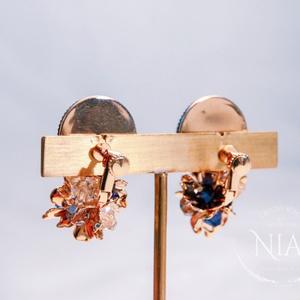 Midnight hydrangea earring